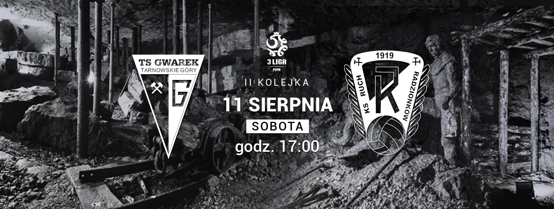 ZAPOWIEDŹ: Gwarek Tarnowskie Góry – Ruch Radzionków